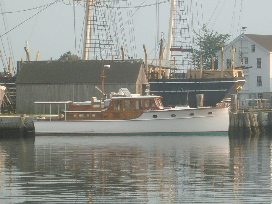 Nan, 46' classic yacht, built by Dawn Boat Yard in Long Island, NY
