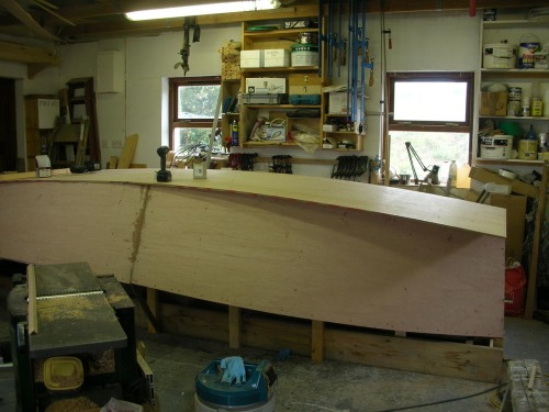 Bottom planking of wooden 16 foot lugsail yawl sharpie by Roeboats Cork Ireland , For Sale