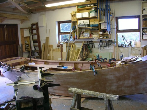 Interior fit out of 16 foot sharpie yawl by Roeboats, West Cork Ireland For Sale
