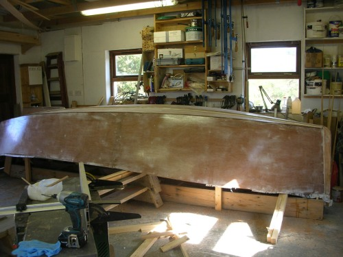 Preparing to roll a 16' sharpie lug sail yawl by Roeboats, West Cork Ireland For sale