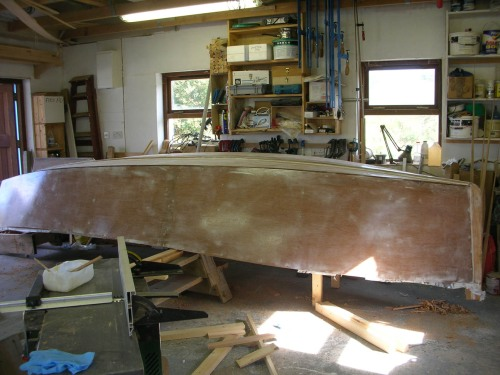 Removing strongback from 16' lugsail yawl by Roeboats West Cork Ireland for sale