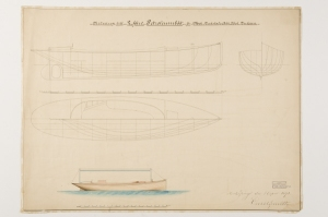 22 foot wooden launch from 1891 2 hp 22' long