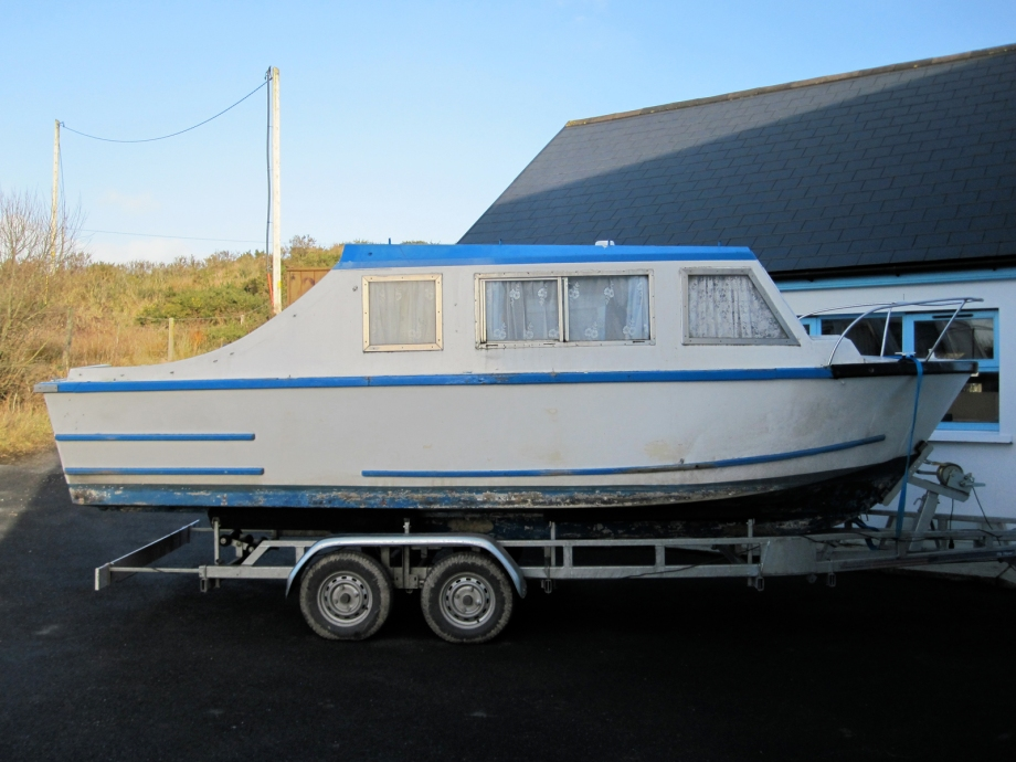 Boat ready for repair, restoration at Roeboats, Co. Cork, Ireland