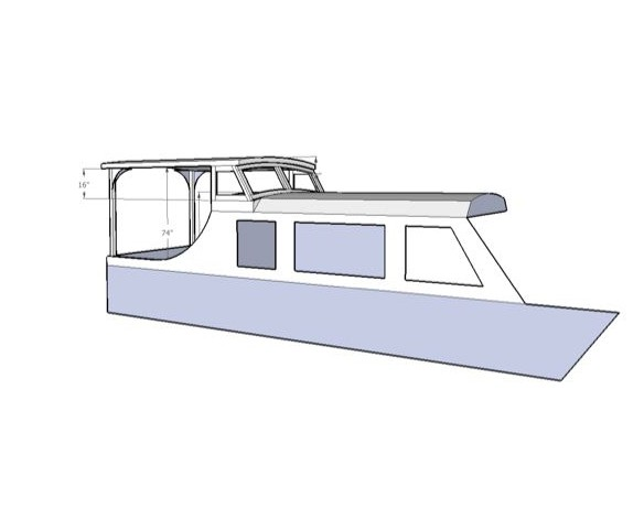 3D view of restored boat