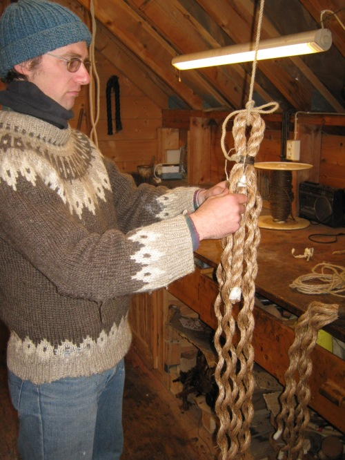 Making rope fender in Norway