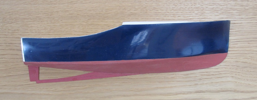 Half Hull model of 25 foot william hand raised deck cruiser