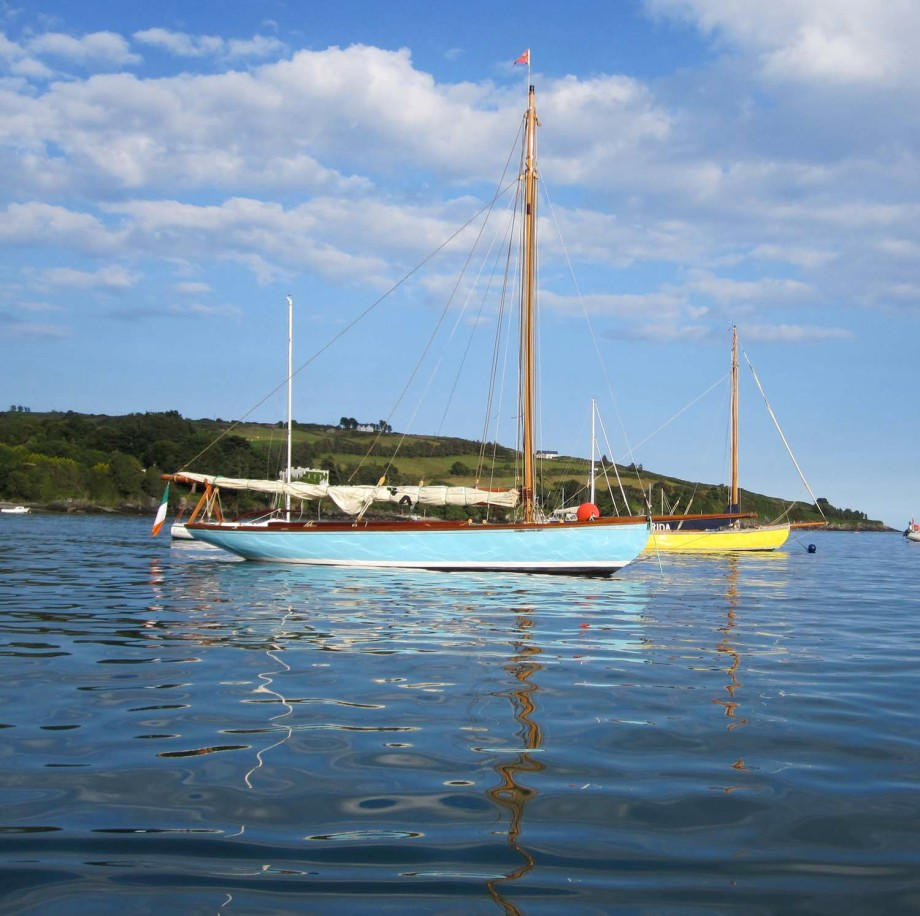 Cork Harbour One Design at anchor in Glandore