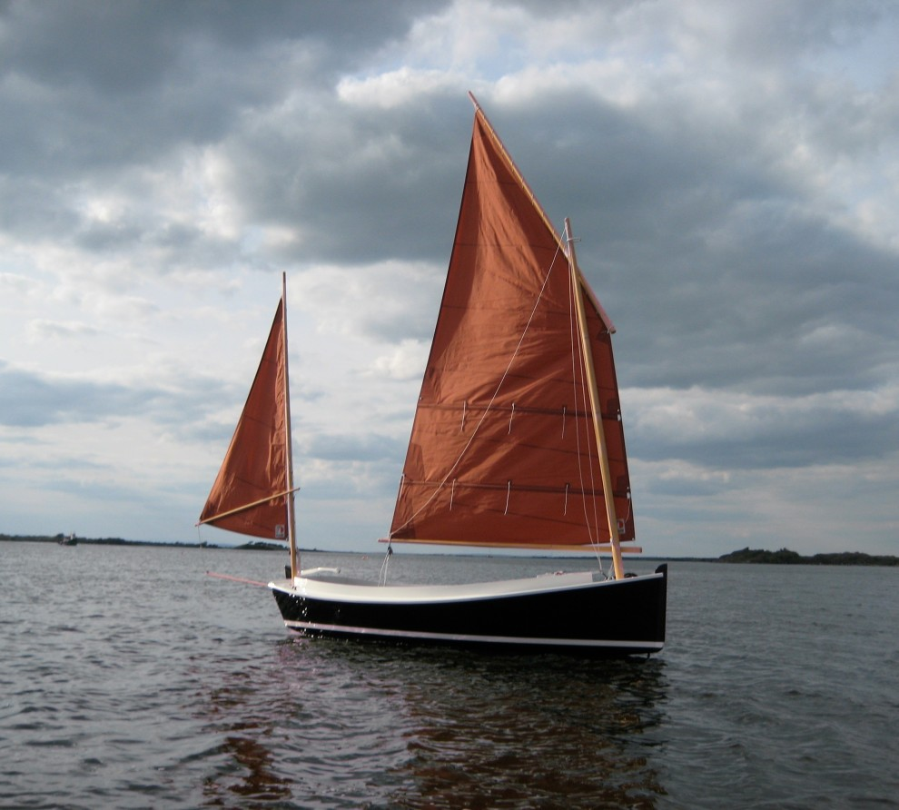 Catbird 16 Lug sail day boat | Wooden boat builder, Boat for sale, power, sail, classic, modern ...