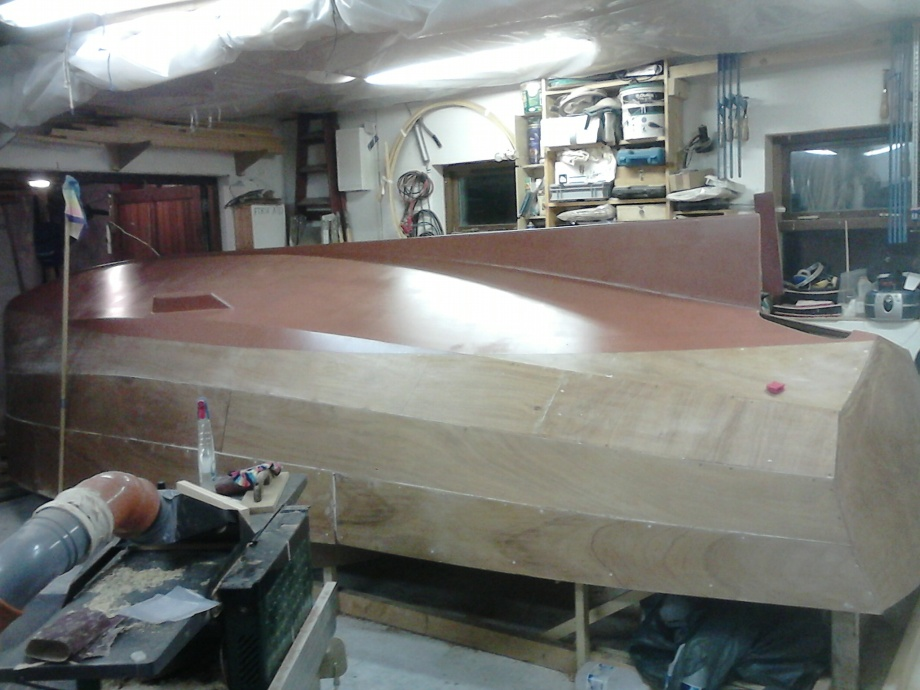 21' Gaff Cutter clinker ply ready to roll.