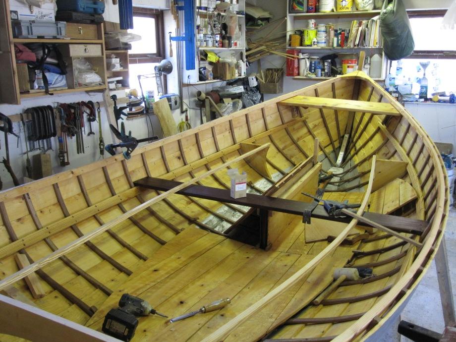 Interior of 16' sea boat