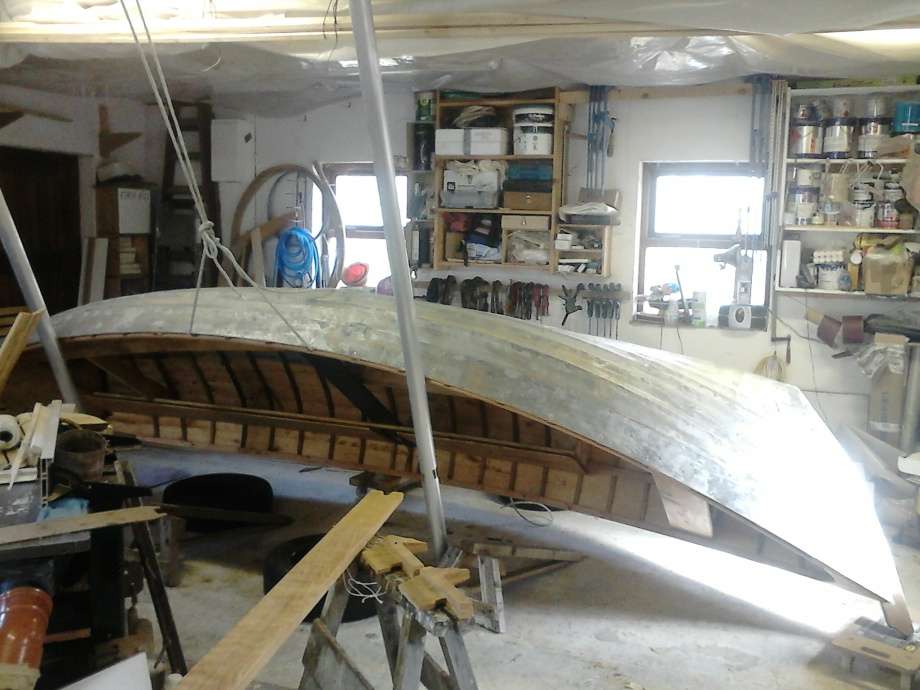 Boat ready for turning
