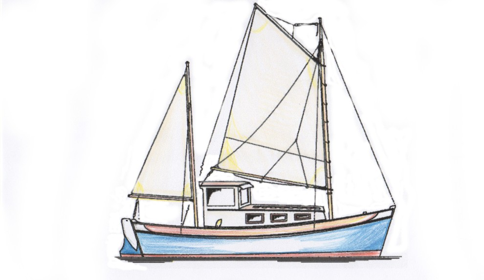 Ketch Rigged Motorsailor