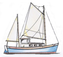 24' Martha green motorsailor