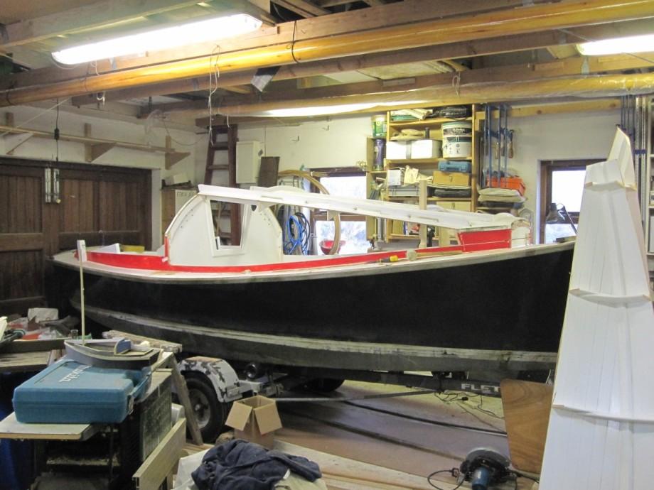 16 Sharpie Microcruiser Rebuild Wooden Boat Builder Boat For